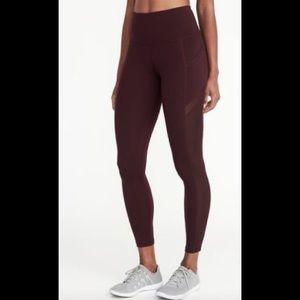 Active maroon leggings